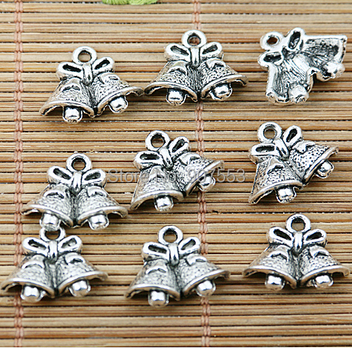 Reasonable 30pcs Tibetan Silver Tone Christmas Bells Charms Ef1734 Bringing More Convenience To The People In Their Daily Life Home & Garden