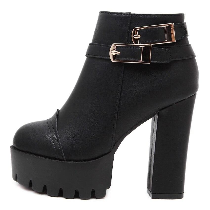 Altos Británico 2 Plataforma Calientes Invierno Zapatos 2018 Botas Botines Tacones Primavera Casual Las Gruesas Xaxbxc Mujeres Dye Señoras Retro Cortos De 631 X1EOxz