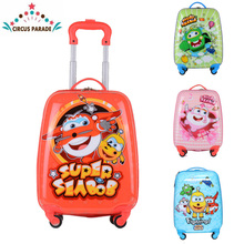 CIRCUS PARADE 2018 New Rectangle Luggage children cartoon travel trolley hardside suitcase rolling luggage kids for boys girls