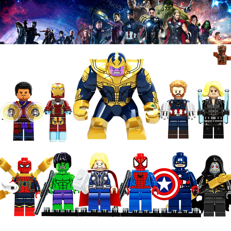 Legoingly Super Heroes Building Blocks Figures Captain America Batman Marvel Avengers Thanos Hulk Compatible With Legoed Toys