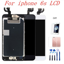 Full Parts Screen For IPhone 6S LCD Display 3D Touch Digitizer Replacement Pre-assemble camera+Dpeaker+Home Button