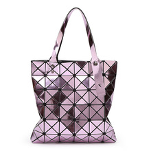 Geometric Pattern Laser Hologram Bag Same As Bao Bao Issey Miyak Luxury High Quality Handbags Women Bags Designer Sac A Main