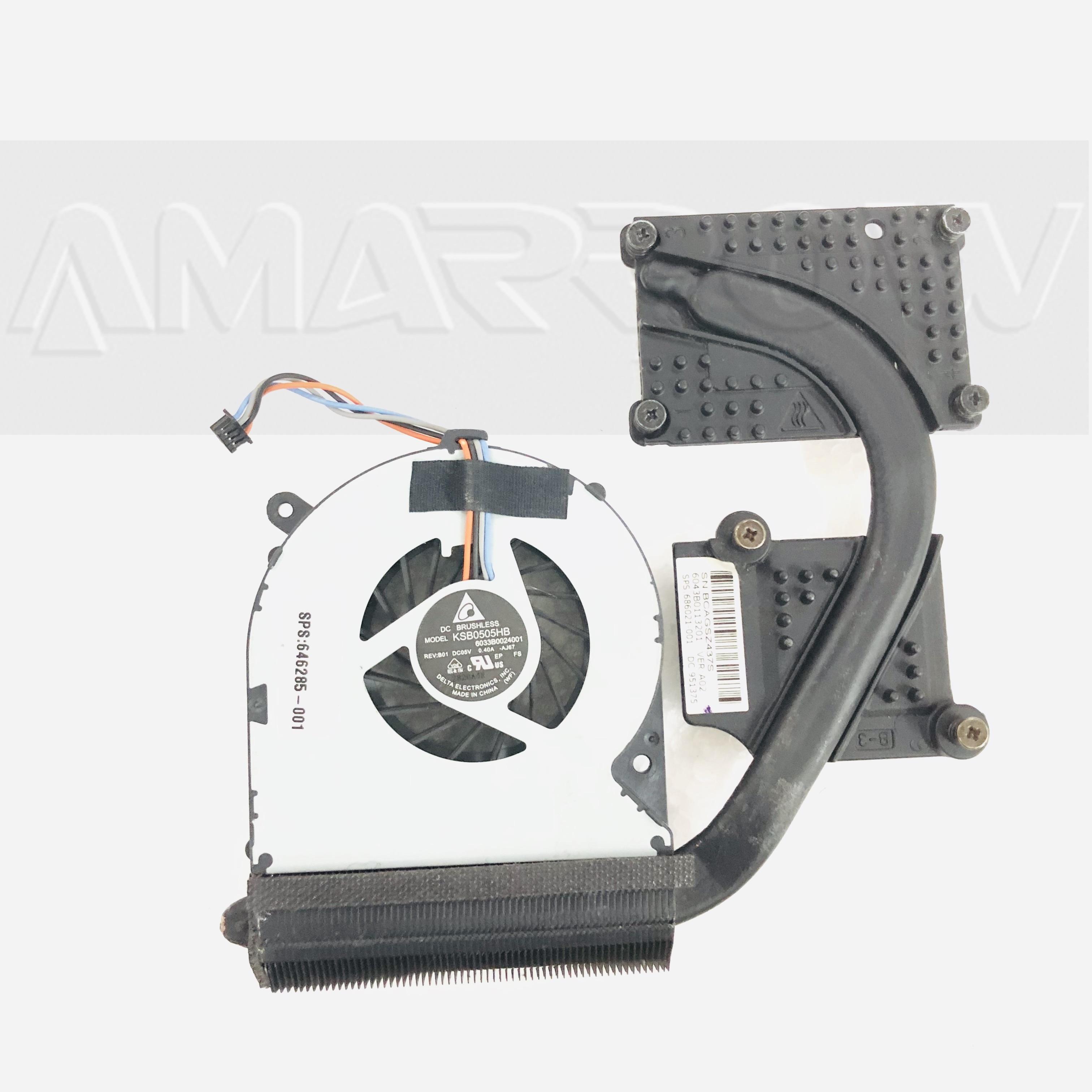 Original For HP Probook 8470p 6470b Cooling Heatsink With Fan 686021-001
