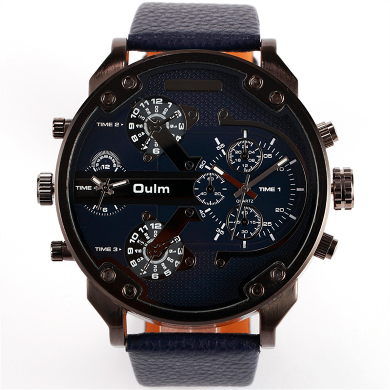 online get cheap top famous brand designer watches men aliexpress famous designer mens watches top brand luxury quartz watch oulm leather strap big face military