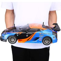 1/10 1400mAh 2.4G RC Racing Car Model Toys 1:10 25KM/h Flat Sports Drift Vehicle Cars Toy For Children Gift 2 Batteries EU Plug