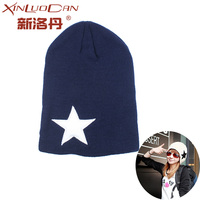 New Arrival Autumn Winter Stocking Star Hat Female Knitted Beanies Hats For Women Wool Hat Cap
