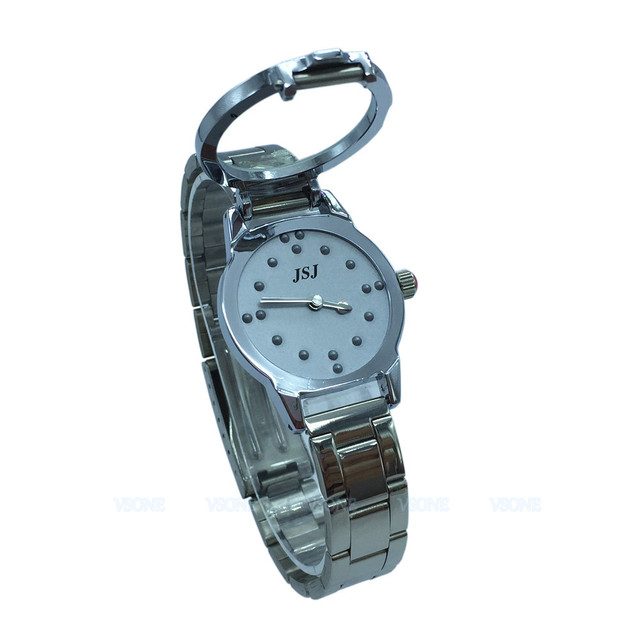 chrome maxiaids band blind quartz ladies watches braille expansion watch with