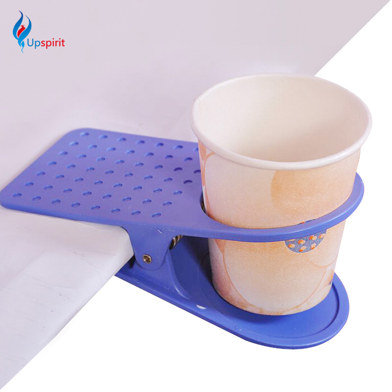 popular drinking cup holder table desk mug clamp plastic