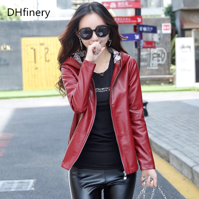 high quality   leather   jacket women Bust 102-118CM short design slim Baseball uniform Hoodies vintage casual   leather   jackets K6723