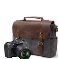 Batik Canvas Waterproof Photography Bag Outdoor Wear resistant Camera Backpack Men for Nikon Canon Sony