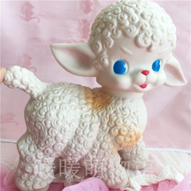 New Cute Sheep Dolls Japan Vintage Rubber Dolls Toy Model Lovely Room Decorations Girl Birthday Gift Limited Collection
