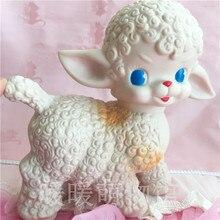 Nuevas muñecas de ovejas lindas, muñecas de goma Vintage de Japón, modelo de juguete, decoraciones para habitación encantadora, regalo de cumpleaños para niña, colección limitada