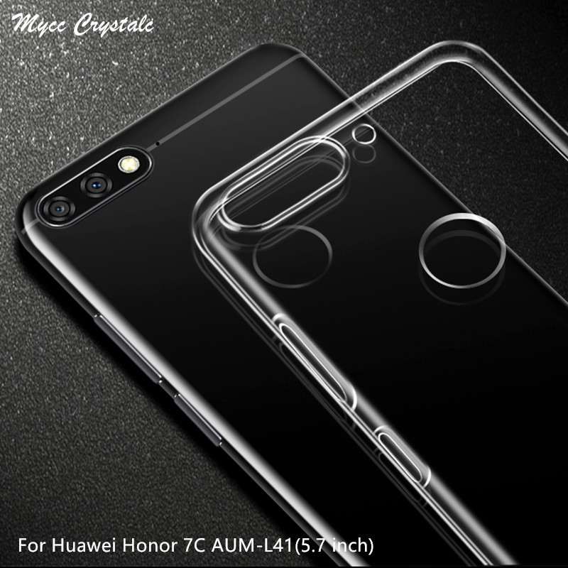 For Huawei Honor 7C Russian Version Case 5.7 Inch Transparent Soft TPU Case For Huawei Honor 7C AUM-L41 Silicone Back Cover