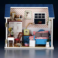 Handmade Doll House Furniture Miniatura Diy Doll Houses Miniature Dollhouse Wooden Toys For Children Grownups Birthday Gift W007