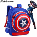 2017 The New Children's Backpack Boys Captain America School Bags For Boys Girls Children Primary Students Backpacks CX290Z