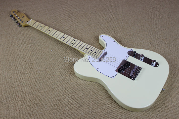 Hot Sale high quality MILK WHITE tele electric guitar 22 frets maple fingerboard real guitar pictures high quality free shippingHot Sale high quality MILK WHITE tele electric guitar 22 frets maple fingerboard real guitar pictures high quality free shipping