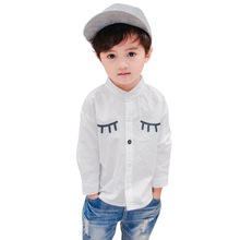 New Arrival Brand Baby Boys Spring Autumn Blouse School Long Sleeve Casual Cartoon Print Top Shirts Boys Kids Fashion Clothes