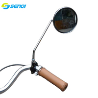A pair Vintage Bicycle permanent metal mirror side mirror stainless steel frame for the Retro bike bike parts FZM002