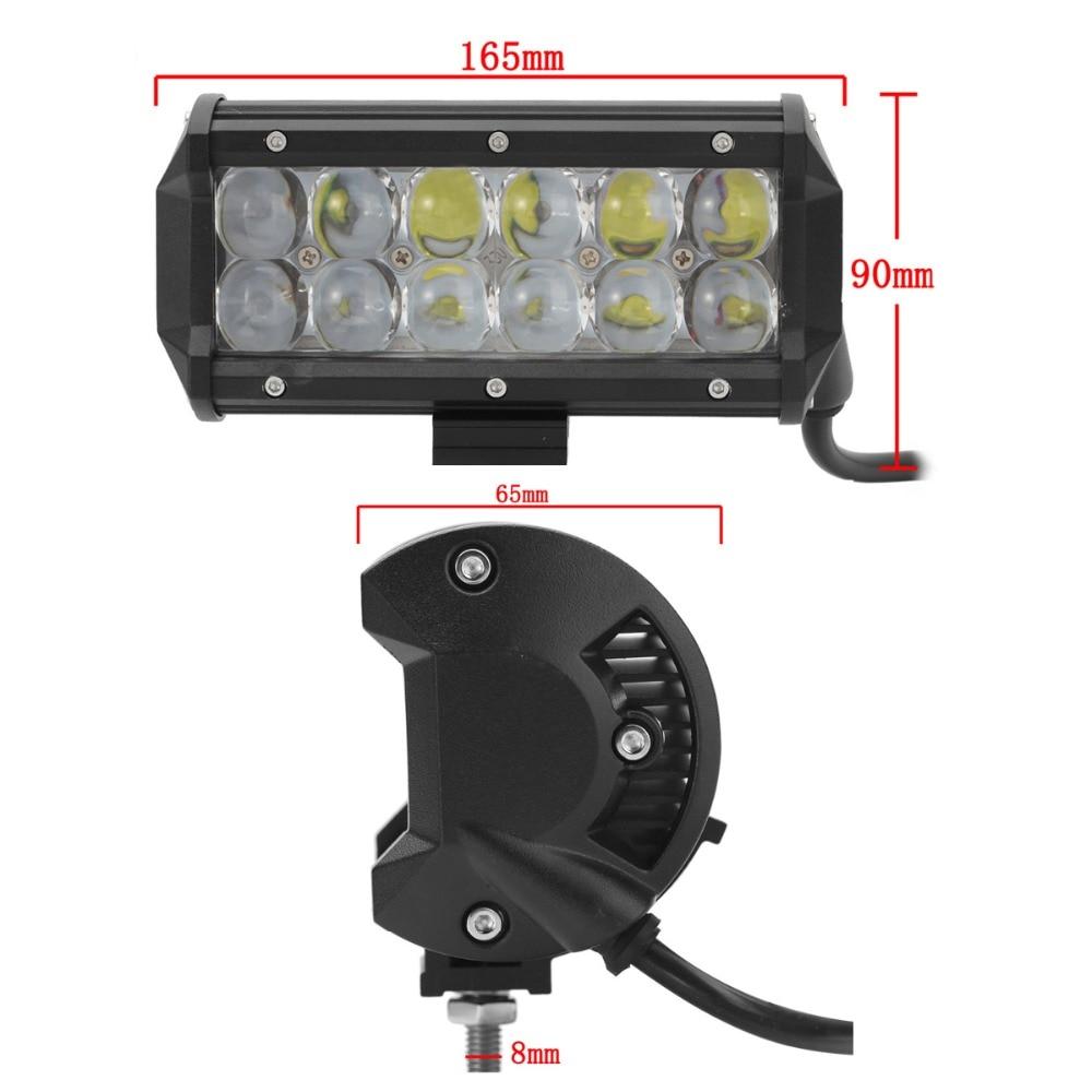 60W Offroad LED Arbetslampa 6,5 '' Bil ATV Trailer Camper - Bilbelysning - Foto 4
