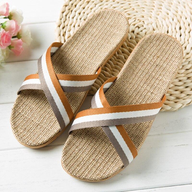 Lin Chaussures Flop 4 New 1 3 De Flip Homme D'été Slip 6 2 Toile rCBeQdxoWE
