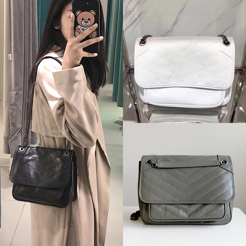 2019 Europe and America Fashion Brand Women Bag Genuine Cow Leather Shoulder Bag Chain Messenger Bag Female Crossbody Bag 2402019 Europe and America Fashion Brand Women Bag Genuine Cow Leather Shoulder Bag Chain Messenger Bag Female Crossbody Bag 240