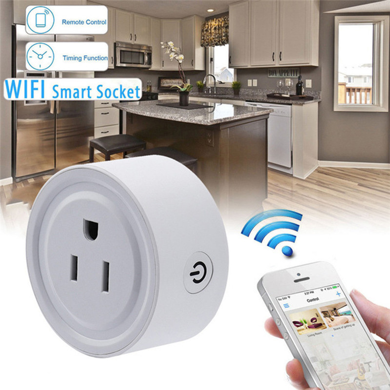 Centechia Mini Smart Wifi Socket US Plug Remote Control Power Strip Timing Switch for Smart Home Automation Electronic System smart home power plug wifi socket strip wifi timing plug power strip 4 ports individual wireless remote control us plug
