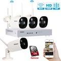 Tmezon 4CH NVR Wireless WIFI Security Surveillance System 4Pcs 2.0MP 1080P Camera ONVIF IR Night Vision Waterproof 1TB 2TB Kit