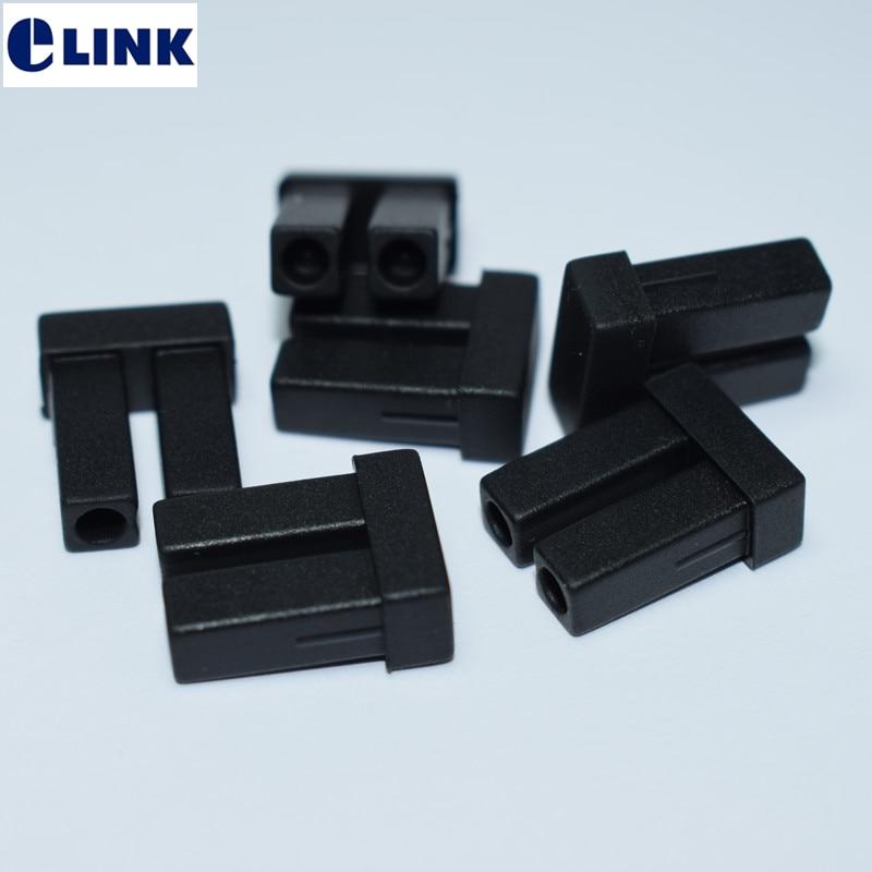 100 pièces LC bouchon anti-poussière pour module SFP double fibre LC dx connecteur duplex fibre optique cache-poussière silicone ftth livraison gratuite ELINK