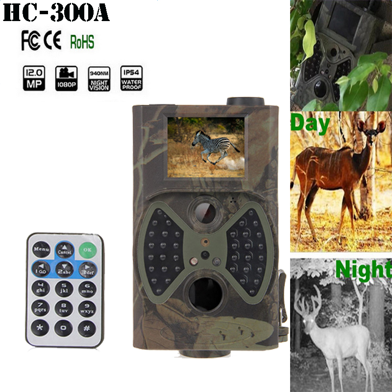 Skatolly HC300 12MP HD 1080P Digital Hunting Camera 940NM Trail Game Camera HC-300A Night Vision IR LED Scouting Hunting Camera