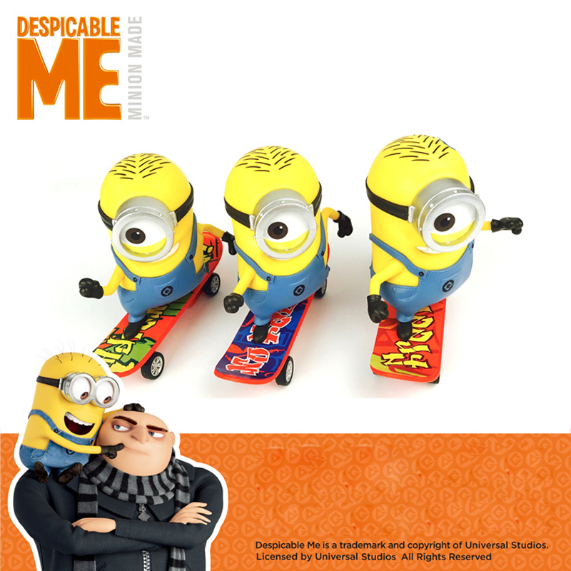 DESPICABLE ME MINION Pull Back Minion Scooter Toys Gift Animiation Dolls Toys Action & Toy Figures