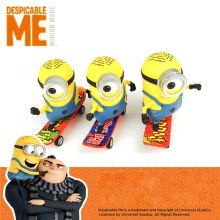 DESPICABLE ME MINION Pull Back Minion Scooter Toys Gift Animiation Dolls Toys Action & Toy Figures снегокат snow moto minion despicable me yellow 37018