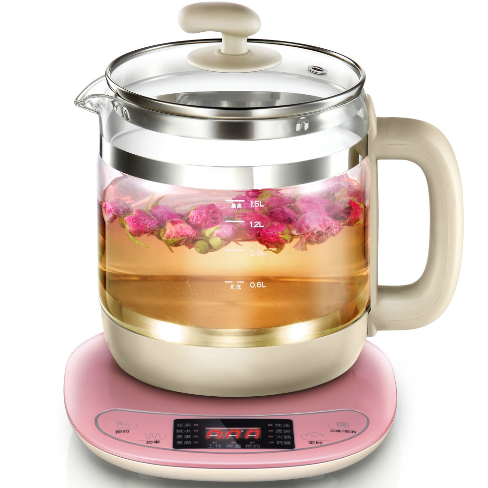 NEW Health pot automatic multi-function glass electric water flower tea boiling decoction multi function miniature health pot full automatic flower fruit tea boiling water and medicine