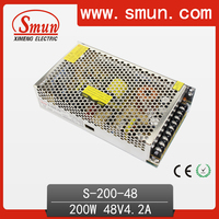 200W Power Supply 48V 4.2A Switching Power Supply 200W AC/DC Power Supply Unit AC-DC Converter S-200-48