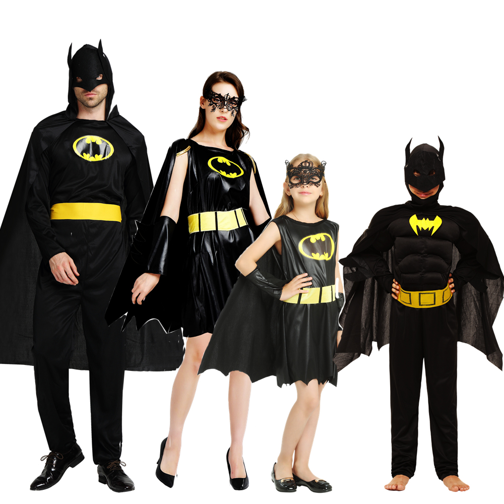 Snailify Adult Batman Costume Kids Family Superhero Cosplay Women Anime Cosplay Halloween Costume For Men Boys Muscle Super Hero