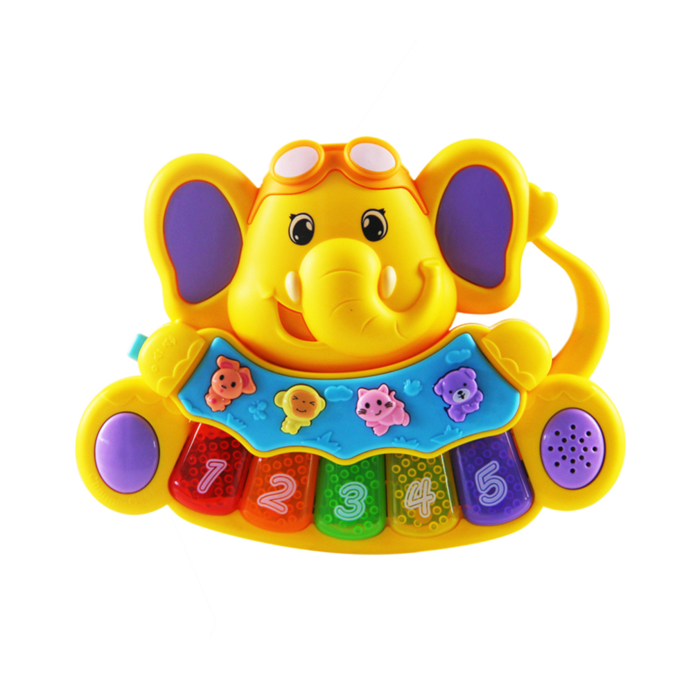 Baby Music Toy Educational Musical Piano Elephant Model Kids Auditory Development Toy New