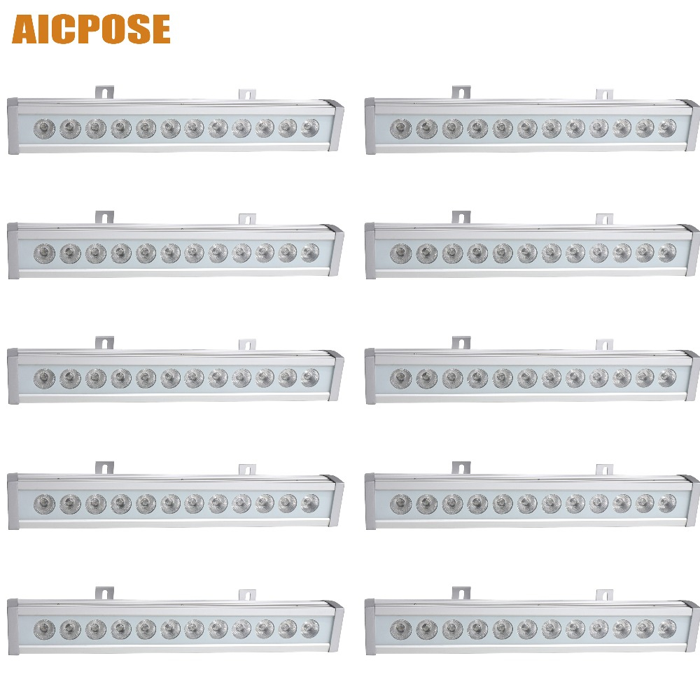 10pcs/lots IP65 waterproof Led 12x12w RGBW 4in1 bar Wall Wash Light Led DJ Bar Disco Wedding Stage Light led rgb wall wash bar light dmx512 night club wedding party disco stage