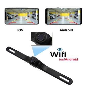 Wifi Ryggekamera til å feste på bilskiltet med nattsyn og for iPhone/IOS Android 640*480px