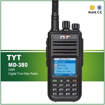 TYT MD380 DMR Digital Walkie Talkie MD-380 TDMA UHF Two Way Radio 5W Encryption 1000 Channels +USB Cable/CD
