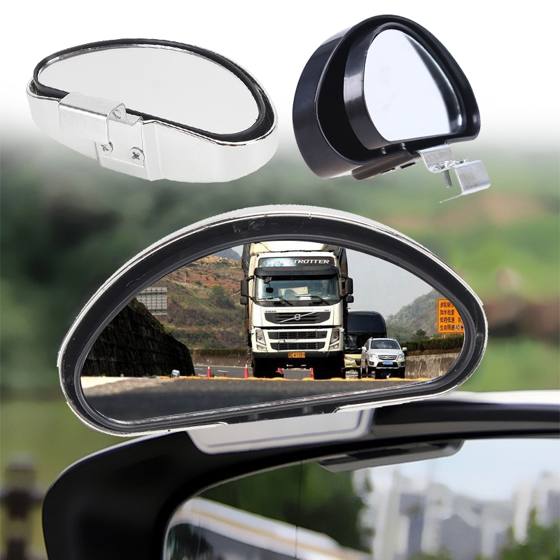 1 Pair Side Auxiliary Blind Spot Wide View Mirror Small Rearview Car Van Truck