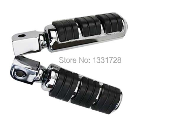 Chrome Wing Foot Pegs Rests For 1999-2002 Honda AERO 1100  (rear)