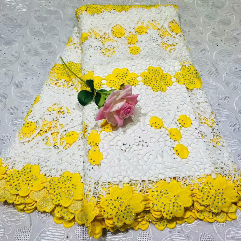 pretty swiss milk silk lace net fabric flowers embroidery with stones 5 yards high quality african