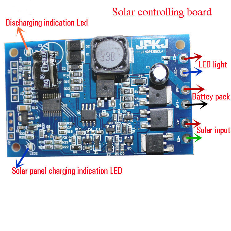 11 1v li ion solar protection board diy solar light control board