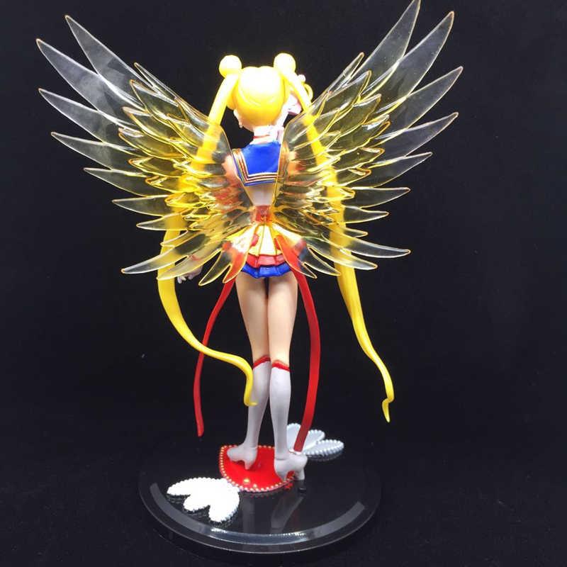 Figuras Anime 7 centímetros PVC Figuras Sailor Moon Sailor Moon Cção Figura Set Asas Decoração Do Bolo Coleção Modelo Toy Boneca presentes