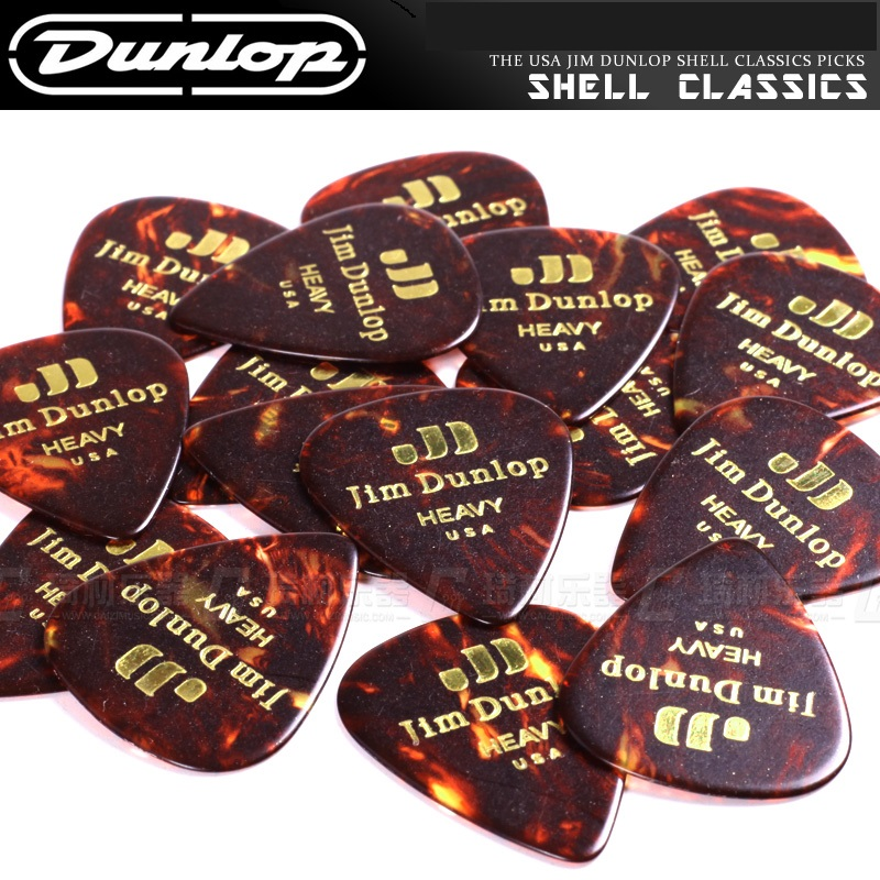 Dunlop Celluloid Classic Guitar Pick Plectrum Mediator, 4 Thickness Available