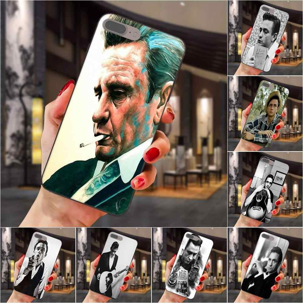 Etui z termoplastycznego poliuretanu Johnny Cash podnieść swój środkowy palec dla Huawei Honor cieszyć się Mate uwaga 6 s 8 9 10 20 P20 p30 Lite zagraj Pro P inteligentny