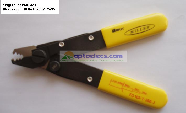 Miller FO 103 T 250 J Tri Hole three holes Fiber Optical Stripper