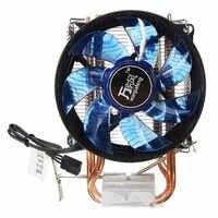 Newest LED CPU Cooler Cooling Fan Quiet Fan Cooler Copper Heatsink for Intel Socket LGA1156/1155/775 AMD AM3 120x90x62mm