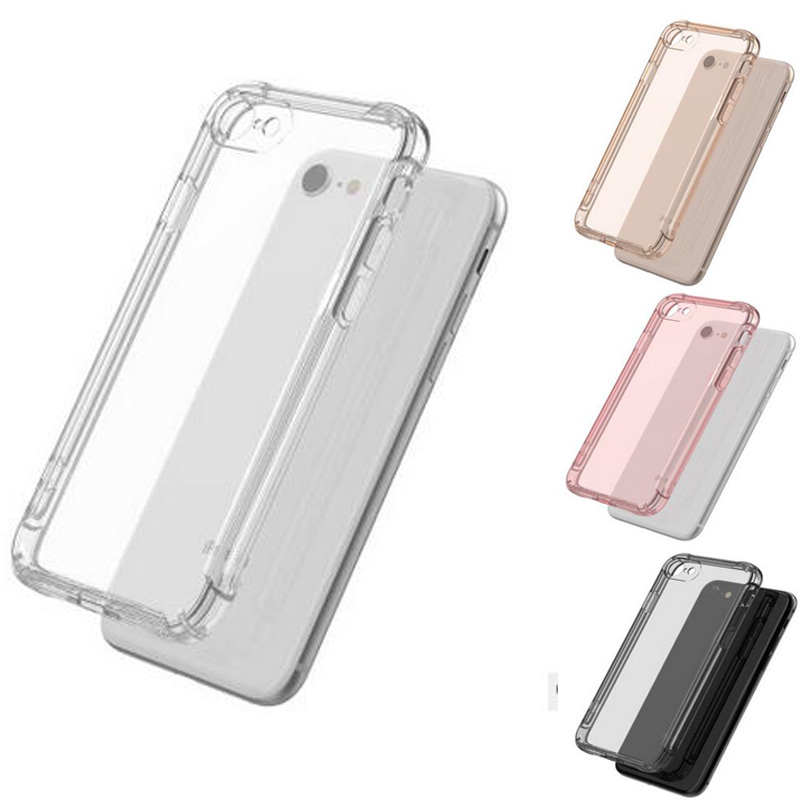 Transparent Full Protective Case For iPhone 7 8 PLUS Airbag Protection Silicone Cover for iPhone X 6S for Samsung Galaxy S8 Plus
