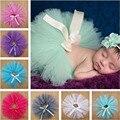 Verano Otoño Estilo Newborn Fotografía Atrezzo Bebe Gasa Pettiskirt Tutu Falda Tutú de Las Muchachas 1 Unidades 0-9 M