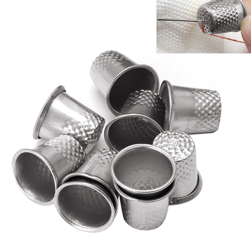 10PCS sewing tool Thimbles Multi Size Finger Protector Sewing Quiting Handmade Craft Tool